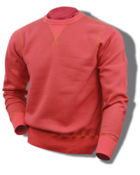 Buzz Rickson Sweatshirt, Loop-Wheeled, Set-In-Sleeve, Red