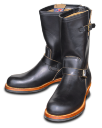 Sugar Cane Lone Wolf Engineer Boots, Black Leather