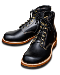 Sugar Cane Lone Wolf Mechanic Boots, Black Leather