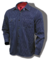 Sugar Cane 8.5-Ounce, Indigo-Dyed, Wabash-Stripe Shirt