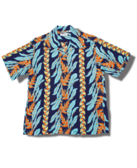 Sun Surf Vintage-Style Hawaiian Shirt, Hanging Heliconia