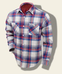 Sugar Cane Dense-Twill Check Shirt, Off-White SC27066-105