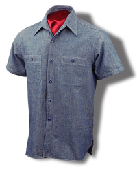 Buzz Rickson 1944 U. S. Navy Chambray Shirt, Short Sleeves