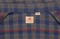 Sugar Cane Twill Check Shirt, Navy SC27177-128