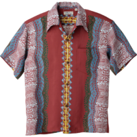 Sun Surf Vintage-Style Hawaiian Shirt, Traditional Tattoo Motif