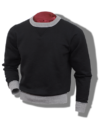 Whitesville Sweatshirt, Heavyweight Loop-Wheeled Black & Grey